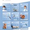 Hospital in Saudi Arabia social media graphic design with infographics