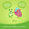ramadan illustration brain and money describing importance of charity